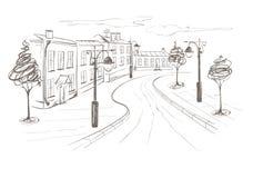 Illustration -- Gammal stad Royaltyfria Bilder
