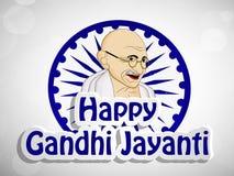 Illustration of Gandhi Jayanti Background Stock Photography