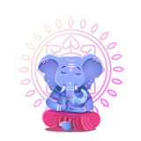 Illustration of Ganesh Indian god of wisdom and prosperity. Ganesh character can be used to print Royalty Free Stock Image