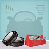 Illustration of garage Stock Photography