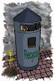 Illustration garbage bin Stock Photo