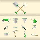 Illustration of gardening tools Royalty Free Stock Image
