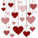 Illustration of a garland of hearts  background Valentine's Day, wedding Royalty Free Stock Images