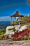 Illustration of Gazebo on Mountainside Stock Photography