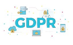 Illustration of GDPR wording concept. royalty free illustration