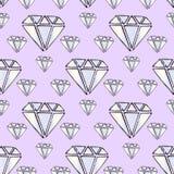 Illustration gems. Diamonds and diamonds on a purple background. Royalty Free Stock Photography