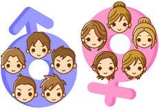 Illustration of gender. This is an illustration of gender Stock Image