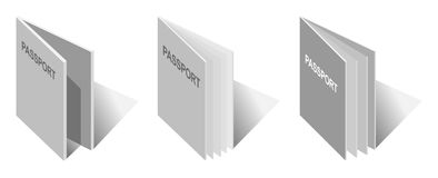 Illustration of generic passport book Royalty Free Stock Photography