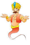 Illustration of a genie Stock Images