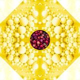 Geometric abstract with apples and yellow liquid mass. An illustration of a geometric abstract from photos of red apples and a yellow liquid mass royalty free illustration