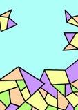 Illustration with geometric pattern. Stock Image