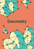 Illustration with geometric pattern. Royalty Free Stock Photography