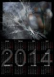 Illustration of a german calendar 2014. Week starts on Monday Royalty Free Stock Photo
