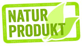Illustration with the german word for natural product - Naturprodukt royalty free illustration