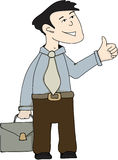 Illustration - Geschäftsarbeitskraft Lizenzfreies Stockbild