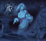 Illustration of a ghost Royalty Free Stock Photography