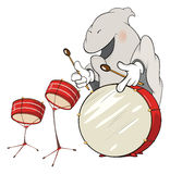 Illustration of a ghost-musician cartoon Stock Photography