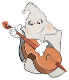 Illustration of a ghost-musician cartoon Royalty Free Stock Images