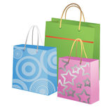 Illustration with gift bags stock illustration