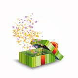 Illustration of a gift box isolated on white Royalty Free Stock Image