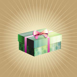 Illustration of a gift box Royalty Free Stock Images