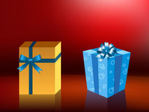 Illustration of gift boxes Royalty Free Stock Photo