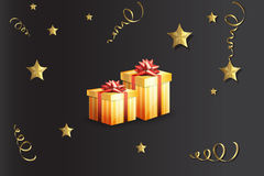 Illustration of a gift boxes Royalty Free Stock Photo
