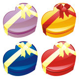 Illustration of gift boxes in heart shape Royalty Free Stock Photography