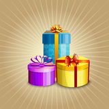 Illustration of a gift boxes Stock Photos