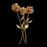 Illustration of a Gilded Rose. High resolution 3d Stock Photography