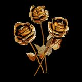 Illustration of a Gilded Rose. High resolution 3d Stock Image
