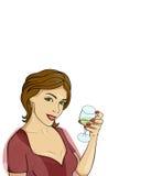Illustration of girl Stock Image