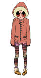 Illustration of a girl in a coat and leggings Royalty Free Stock Images