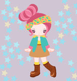 Dress up japan vector. Illustration of girl dressing up japan style Stock Images