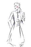 Illustration of girl in fashionable clothes Royalty Free Stock Images