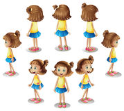 A girl forming a circle Stock Images