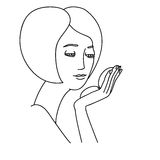 Illustration of girl looking into a mirror Stock Photography