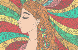 Illustration of girl Royalty Free Stock Photos