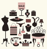Illustration of girl set Royalty Free Stock Photos