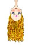 Illustration of girl upside down Stock Image