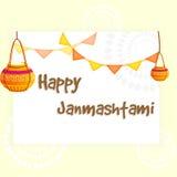 Illustration glückliches Janmashtami Stockbild
