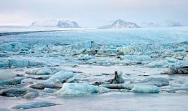 Illustration of Glacial Lagoon. Of the Vatnajokull Glacier, Iceland Royalty Free Stock Photos