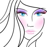 Illustration with glamour made-up woman. eps10 Royalty Free Stock Photography