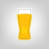 Illustration with a glass of beer Stock Images