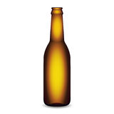 Illustration of Glass Beer Bottle On White Background Stock Images
