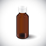 Illustration of glass empty  bottle  Royalty Free Stock Photography