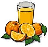 Fresh orange juice stock illustration