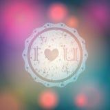 Illustration of glittering Valentines Day backgrou Stock Photo