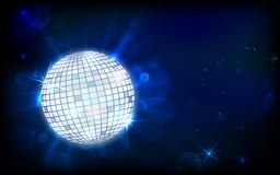 Disco Ball. Illustration of glittery disco ball on abstract background Royalty Free Stock Photo