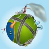 Illustration of global environmental problems, Stock Photos